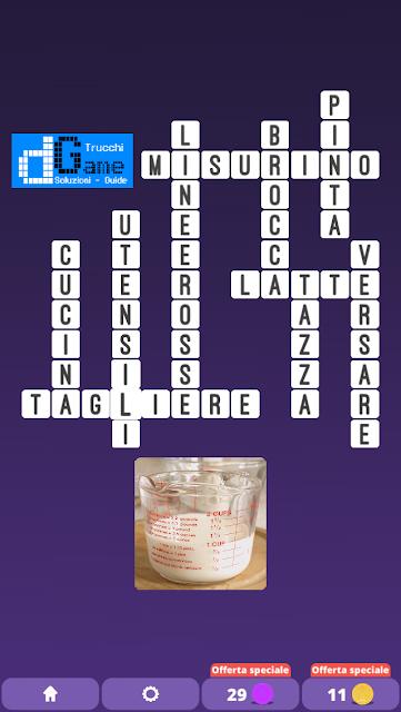 Soluzioni One Clue Crossword livello 23 schemi INTERMEDIA (Cruciverba illustrato)  | Parole e foto