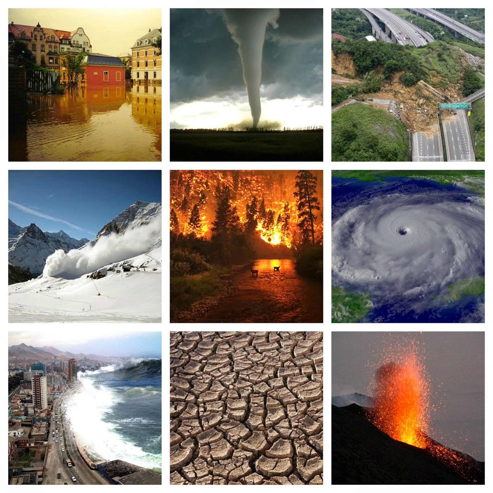 Around The World In English Natural Disasters Crossword