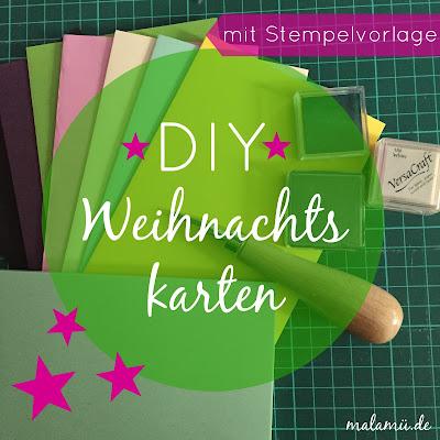 DIY schnelle und einfache Weihnachtskarten