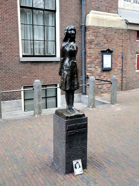 Anne Frank statue in Amsterdam | Netherlands, Europe