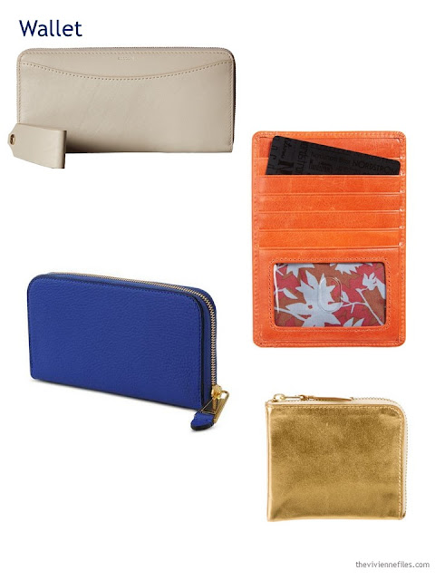 A Capsule Wardrobe in Beige, Bright Blue and Orange: Expanding Your Accessories - wallets