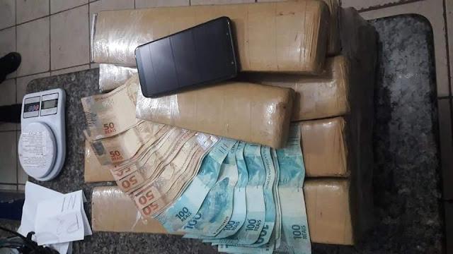 Polícia Militar de Cacoal, em parceria com a Polícia Civil, apreende mais de 20 quilos de drogas em Cacoal