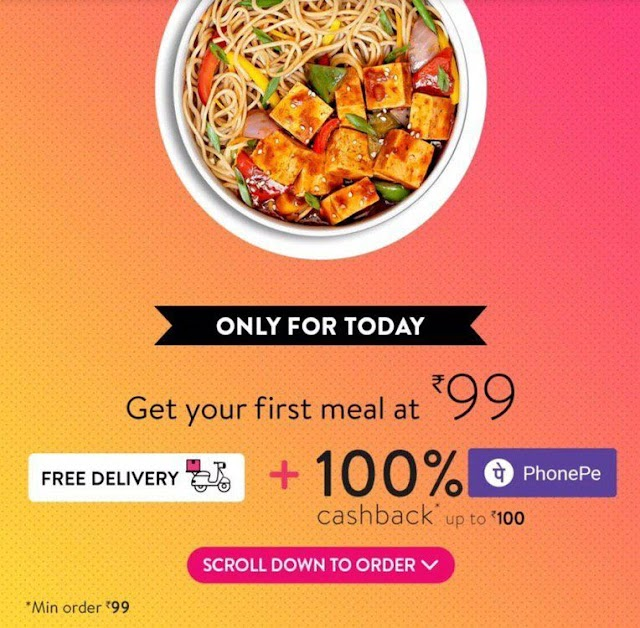 [Back] Food Worth ₹125 For Free From Eat.fit | PhonePe