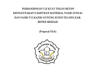Contoh Proposal Penelitian Uji Kuat Tekan Beton Materi Teknik Sipilku