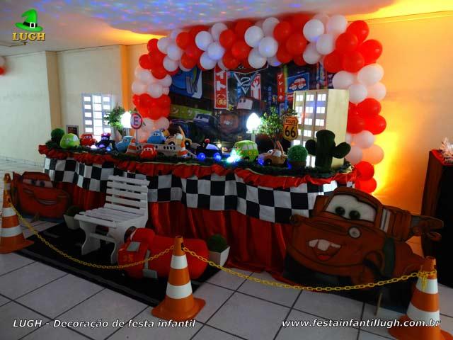 Decoração tema Carros (Disney) - Aniversário infantil