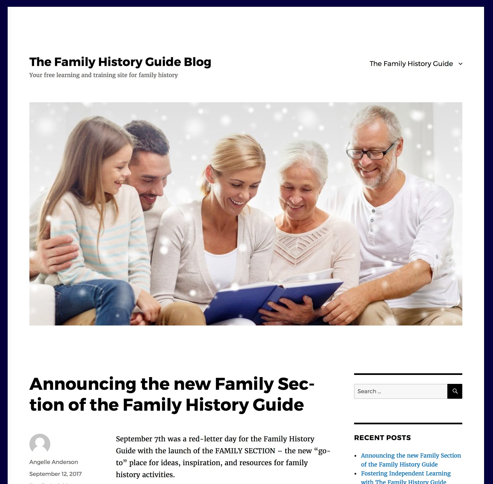 Genealogy S Star New Blog For The Family History Guide