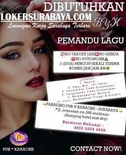 Loker Surabaya Terbaru di Paradiso Pub and Karaoke Juni 2019