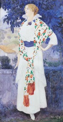 Edward Okun - Portrait of Artist's Wife, Zofia