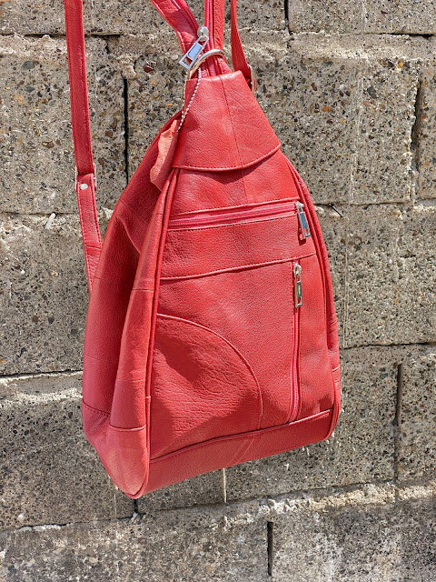 A photo of Turkish Finds Lambskin Leather Bag (Burnt Sienna)  Review
