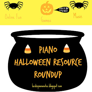 Piano Teaching Halloween Resource Roundup Free Piano Games and Music heidispianonotes.blogspot.com