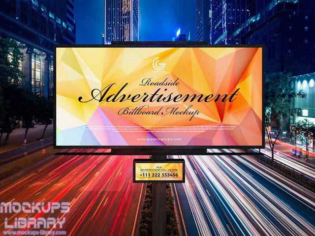 roadside hoarding billboard mockup