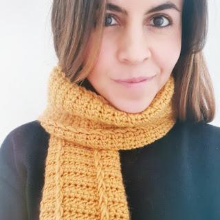 Bufanda unisex a crochet - Ahuyama Crochet
