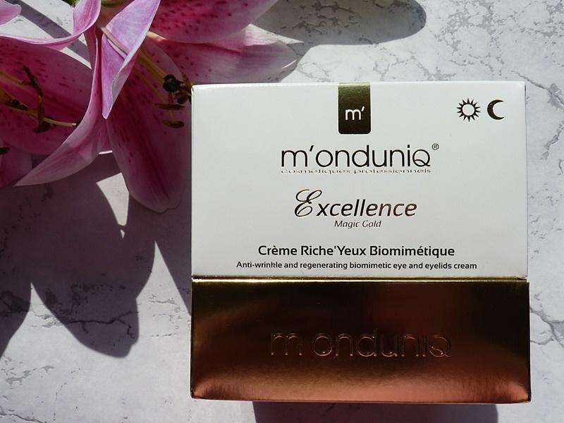 M'onduniq EXCELLENCE MAGIC GOLD Biomimetyczny krem przeciwzmarszczkowy i regerujący pod oczy i na powieki