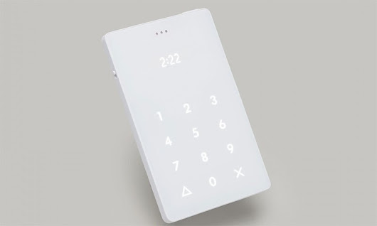The credit card size mobile phone