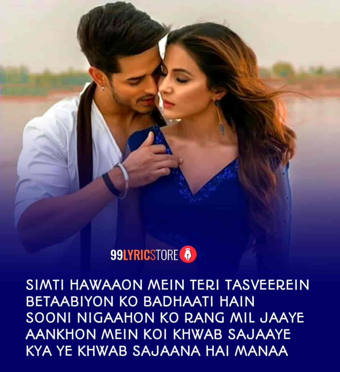 Raanjhana Lyrics Image Hina Khan and Priyank Sharma