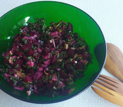 Beet Salad with Red Onions & Parsley