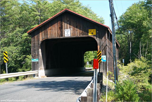 Puente Cubierto County Bridge Hancock-Greenfield en New Hampshire
