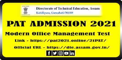 PAT Admission Notice 2021 Girls' Polytechnic Bamunimaidam
