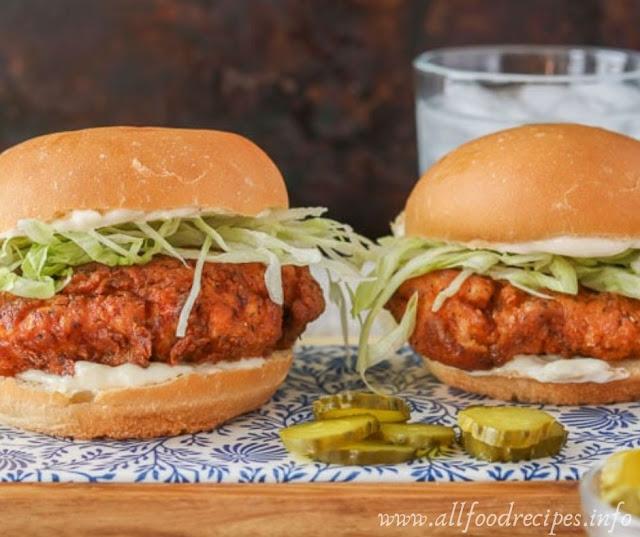 Recipe Buttermilk Crispy Chicken Burger