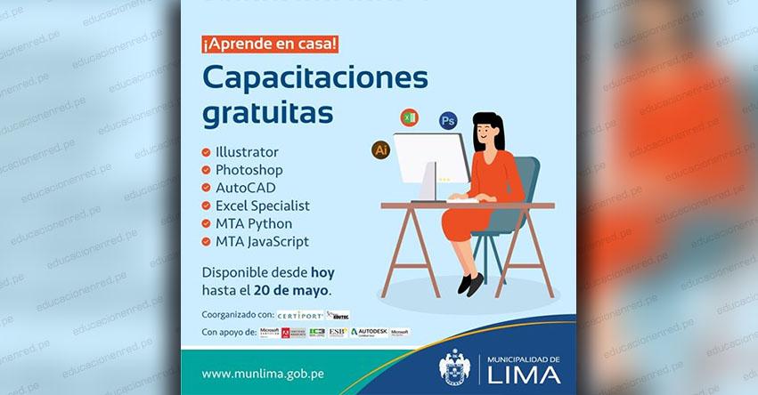 MUNLIMA: Municipalidad de Lima ofrece cursos gratuitos en herramientas digitales - www.munlima.gob.pe