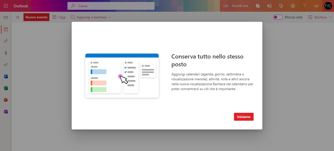 Il Calendario di Outlook.com ottiene la nuova visualizzazione Bacheca