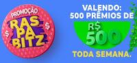 Promoção RaspaBitz, 500 prêmios de 500 reais!