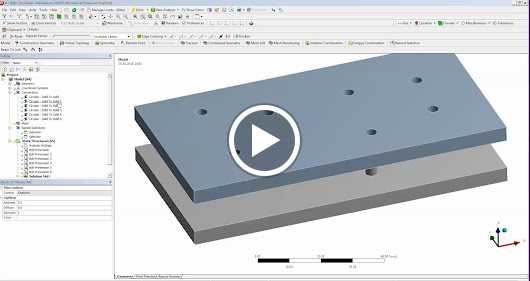 Quickly Create Beam Connection and Pretension in ANSYS Workbench