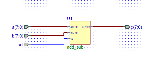 interconnection of pins of VHDL components