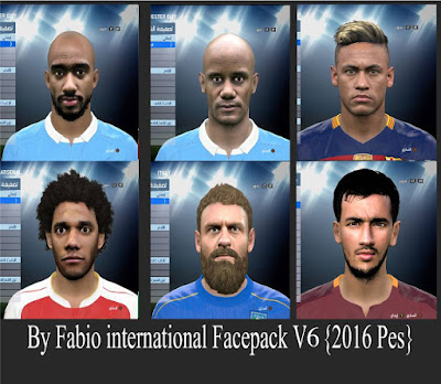 {Pes 2016} international Facepack V6 By Fabio