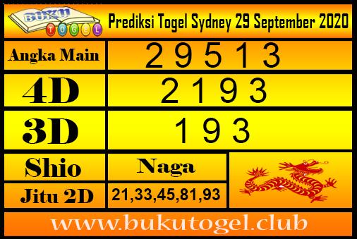 Syair Sydney 29 September 2020