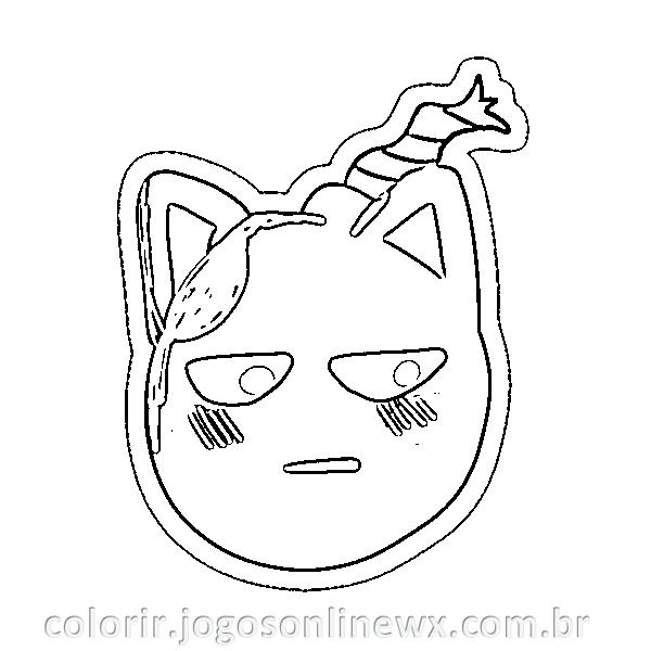 Kitty Whitty para Colorir