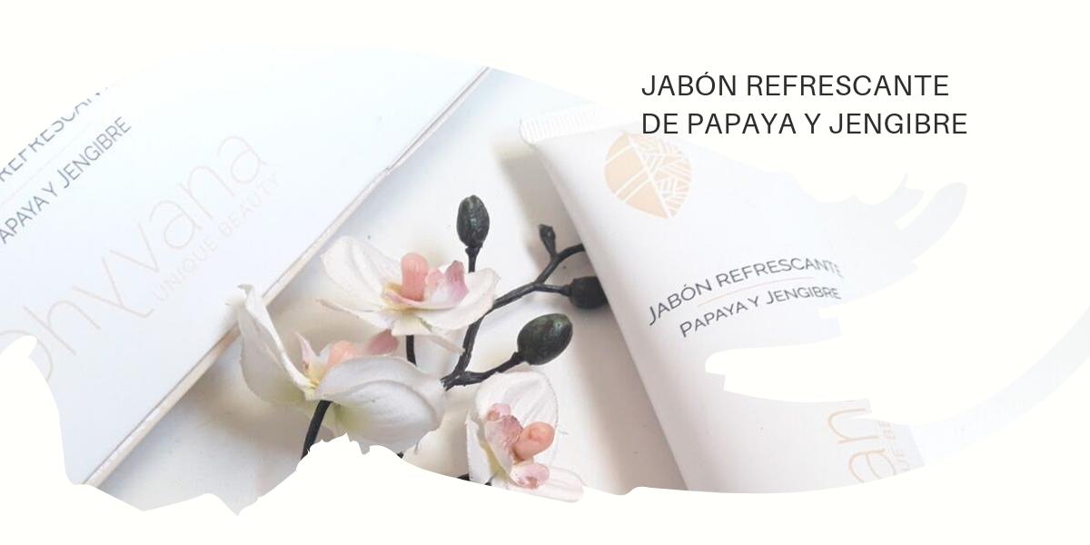 JABÓN REFRESCANTE  DE PAPAYA Y JENGIBRE