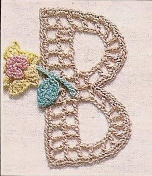 Letra B a Crochet