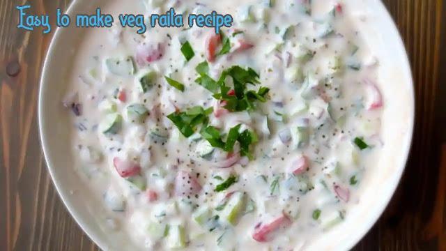 How to make delicious veg raita at home