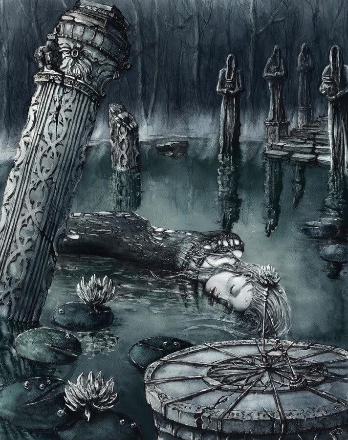 04-Haunted-Pond-and-Sundial-Elwira-Pawlikowska-www-designstack-co