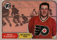 bernie parent philadelphia flyers 1968-69 opc rookie card