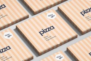 Mockup kotak pizza keren