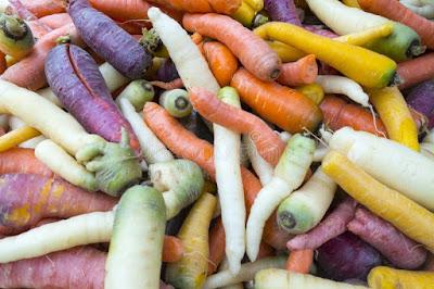 Como crecen zanahorias coloridas
