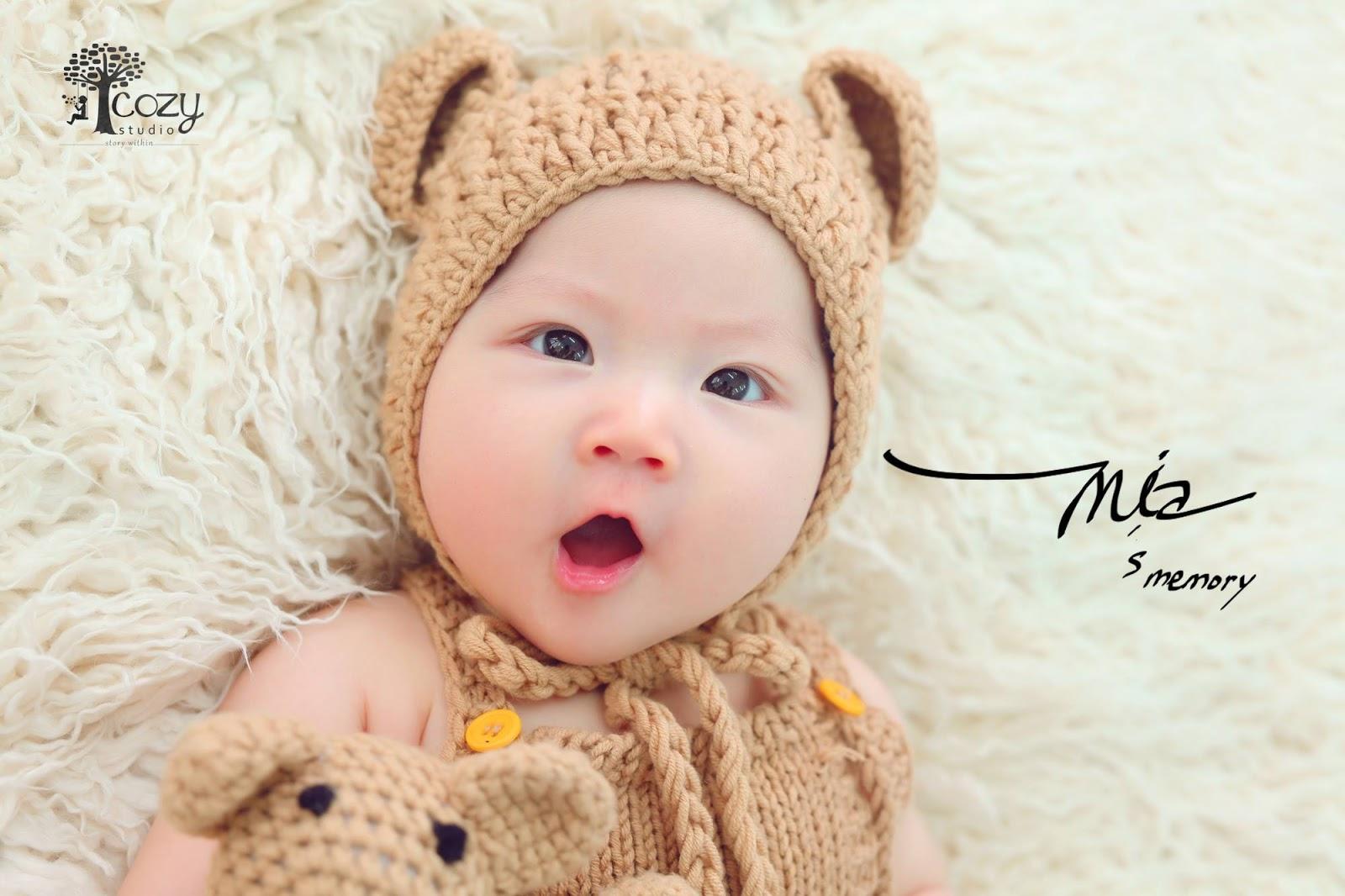 Studio chụp hình đẹp cho bé tại TPHCM sẽ mang lại cho thiên thần 3 tháng tuổi tuyệt đẹp!