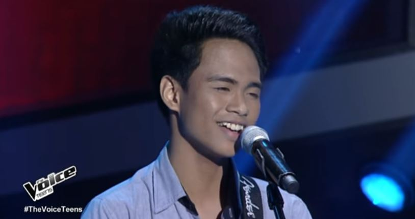 """Patrick Corporal sings """"Fly Me To The Moon"""" on ' The Voice Teens'"""