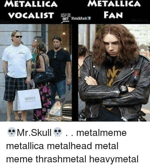 Metallica vocalist vs. Metallica fan: Who looks the most Metal? PunkMetalRap.com
