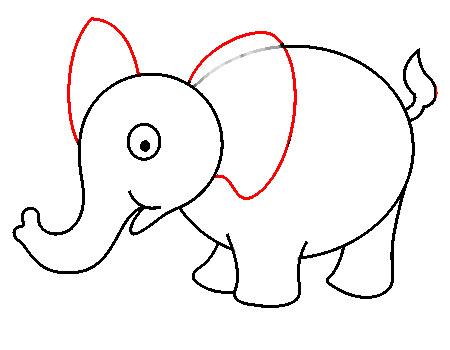 Cara Menggambar Gajah Untuk Anak Tk Gambaryuk