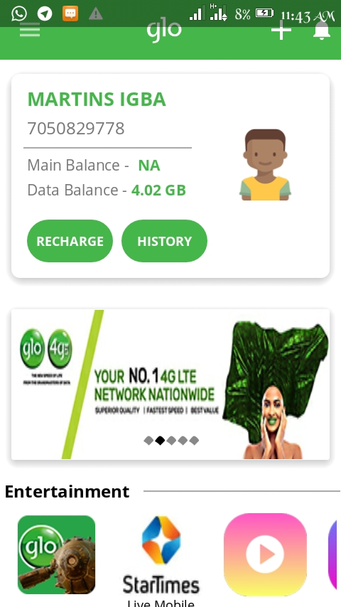 How to double your data on glo - MARVEL'S WORLD