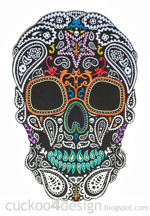 DIY Halloween Mexican skull wall art - Cuckoo4Design