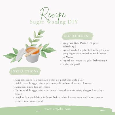 cara membuat sugar waxing sendiri