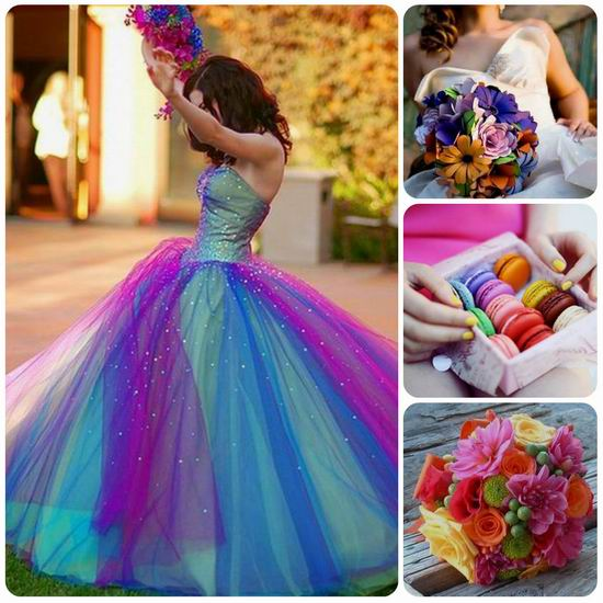Casper's Fashion World: {My Love} Rainbow Wedding Inspiration