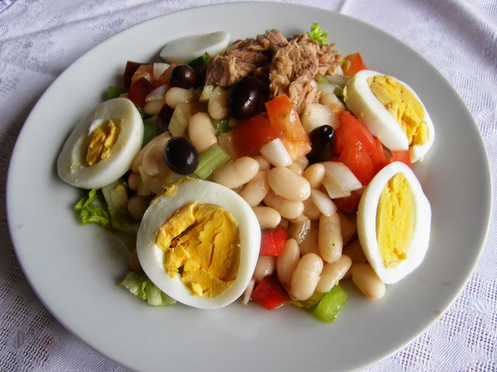 Manjares de huesca ensalada de judias blancas - Ensalada fria de judias blancas ...