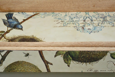 Inside of by Bird Cigar Box by BayMoonDesign