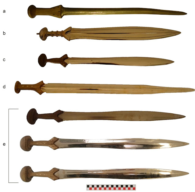 Bronze Age swords bear the marks of skilled fighters