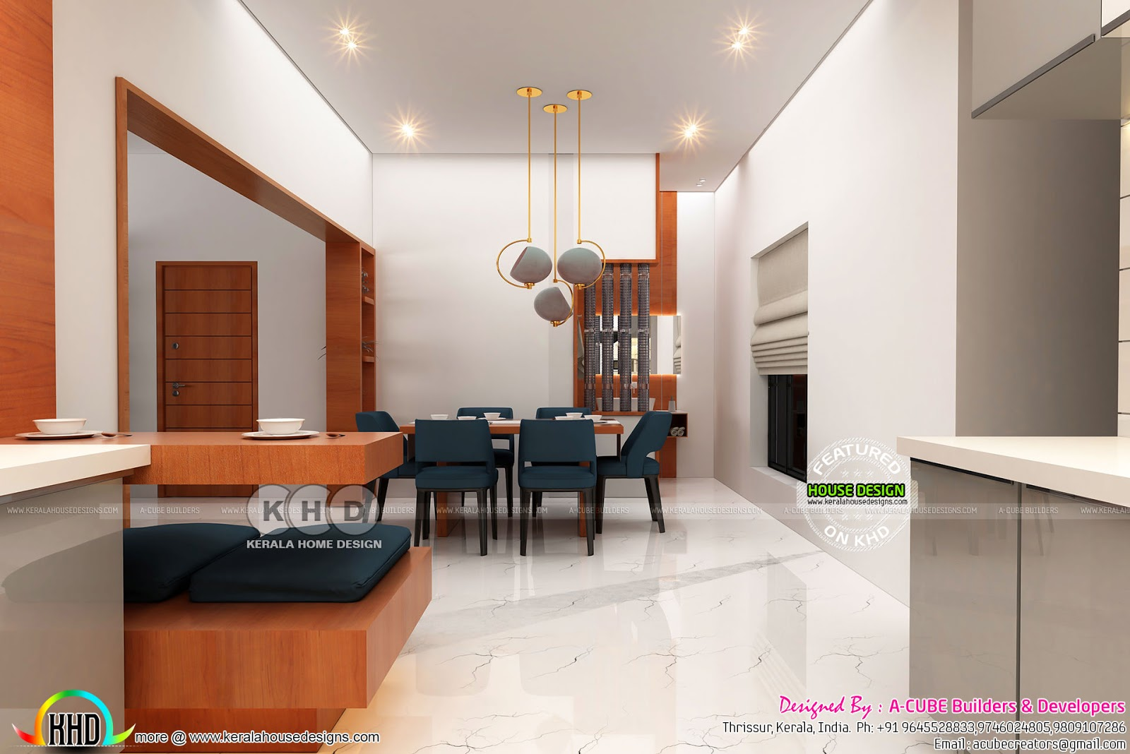 Open Kitchen And Dining Interior Kerala Home Design Bloglovin